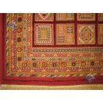 شش متری سوزنی فرش دستباف سیرجان برجسته باف