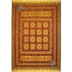 قالیچه دستباف سوزنی فرش سیرجان برجسته باف