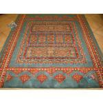قالیچه قشقایی تولیدی فروزان پشم رنگ گیاهی