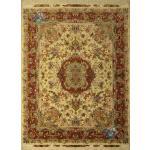 جفت قالیچه دستباف نقشه جدید خطیبی چله و گل ابریشم پنجاه رج