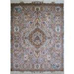 جفت قالیچه دستباف نقشه جدید فهوری چله و گل ابریشم پنجاه پنج رج