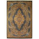 قالیچه دستباف تمام ابریشم قم تولیدی نعیمی هشتاد رج اعلا