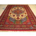قالیچه دستباف قوچان کردباف رنگ گیاهی چله ابریشم طرح قشقایی