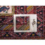 قالیچه دستباف قوچان کرد باف رنگ گیاهی گل ابریشم طرح محرمات