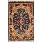 Zar-o-nim Tabriz Carpet Handmade golmehr Design