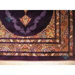 ذرع و نیم دستباف تمام ابریشم قم کف ساده تولیدی باستان