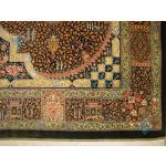 Zar-o-Nim Qom Carpet Handmade Jamshidi Design