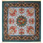 قالیچه مربع یک ونیم در یک و نیم متر تمام ابریشم قم تولیدی روزگرد