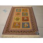 Zarocharak Sirjan Kilim Carpet Handmade Brick Design