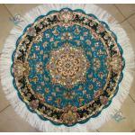 دایره دستباف تبریز قطر یک متر نقشه سالاری گل ابریشم