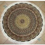 دایره دستباف تبریز قطر یک  و نیم متر نقشه گنبد گل ابریشم