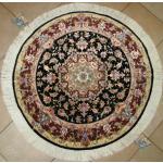 دایره دستباف تبریز قطر یک متر طرح علیاجدید گل ابریشم