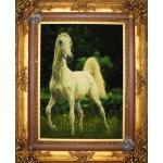 تابلو فرش دستباف تبریز طرح اسب سفید ایستاده