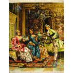تابلو فرش دستباف تبریز طرح مهمانی جوزفین چله و گل ابریشم