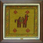 تابلو سوزنی باف قوچان نقشه شتر دستباف
