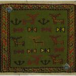 تابلو گلیم سوزنی باف قوچان نقشه هفت بز دستباف