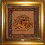 Tableau Carpet Handwoven Sirjan Lion and Sun Design all Wool