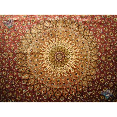 شش متری دستباف تمام ابریشم قم تولیدی مرشدی
