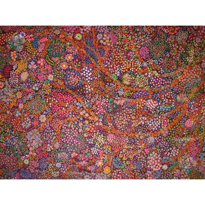 شش متری دستباف تمام ابریشم قم تولیدی رضایی نقشه اسحاقی اعلا باف