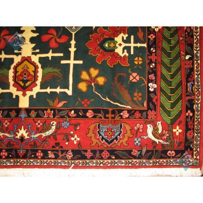 شش متری دستباف بختیاری طرح صلیبی پشم دستریس رنگ گیاهی