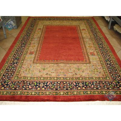 شش متری دستباف قشقایی شیرازی پشم دستریس و رنگ گیاهی