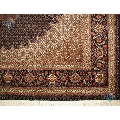 جفت شش متری دستباف طرح جدید ماهی دورگلیم دار عبدالهی پنجاه رج گل ابریشم