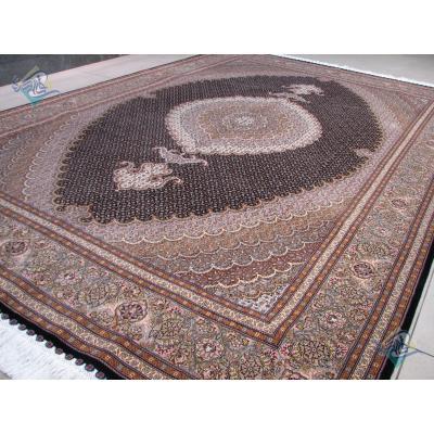 شش متری دستباف طرح جدید ماهی سیزده متن گل ابریشم پنجاه رج