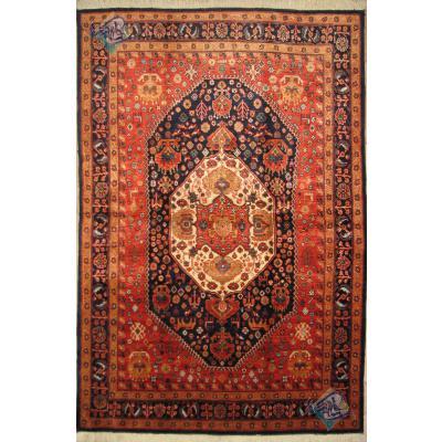 قالیچه دستباف قشقایی پشم دست ریس و رنگ گیاهی