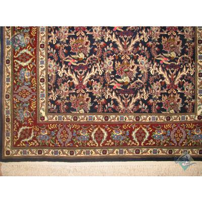 قالیچه قم کرک و ابریشم طرح سراسری