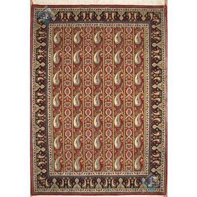 قالیچه دستباف قم طرح محرمات کرکی