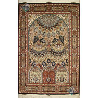 قالیچه طرح گنبد محرابی