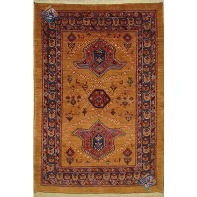 قالیچه دستباف قشقایی طرح افشان تاج
