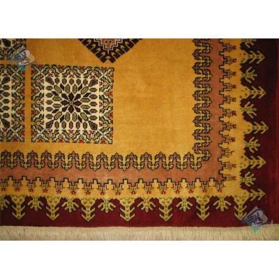 قالیچه بروجن کف ساده خشتی