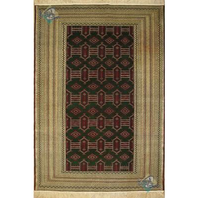 قالیچه ترکمن نقشه یموتی چله ابریشم