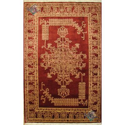 قالیچه هریس اردبیل طرح دو برگ