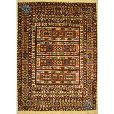 قالیچه قشقایی تمام پشم ریز باف رنگ گیاهی