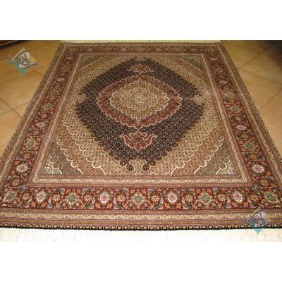 قالیچه دستباف نقش ماهی جدید گل ابریشم