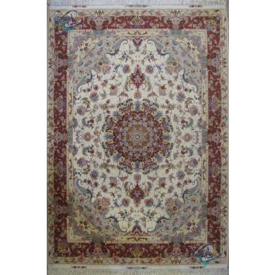 Rug Tabriz Carpet Handmade Oliya Design Silk & Softwool