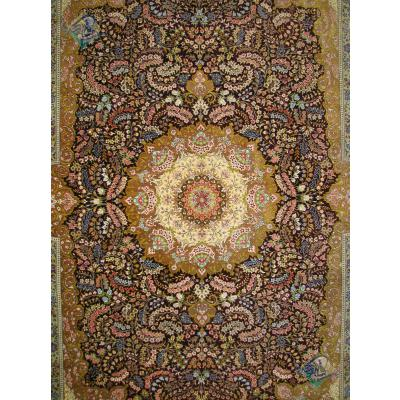 قالیچه دستباف تمام ابریشم قم تولیدی الیاسی بسیار اعلا
