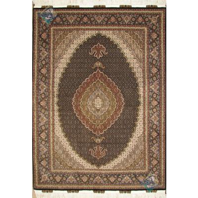 قالیچه دستباف طرح ماهی جدید گل ابریشم پنجاه رج