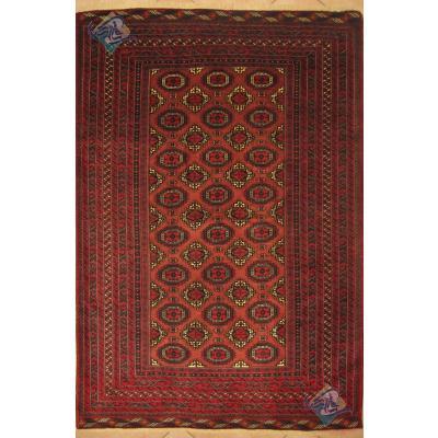 قالیچه دستباف تمام پشم بلوچ طرح هندسی ریزباف