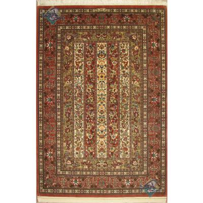 قالیچه دستباف قم چله و گل ابریشم محرمات تولیدی فتحی