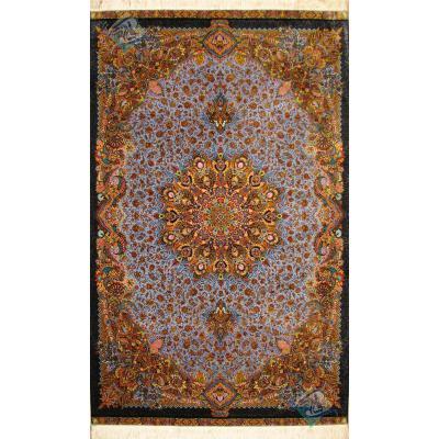 قالیچه دستباف تمام ابریشم قم تولیدی بیطرفان طرح جدید اعلا باف
