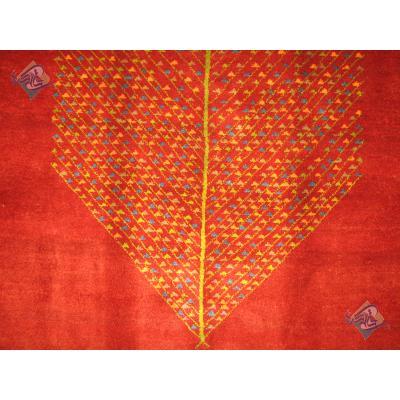 قالیچه دستباف گبه قشقایی تمام پشم دستریس طرح تک درخت