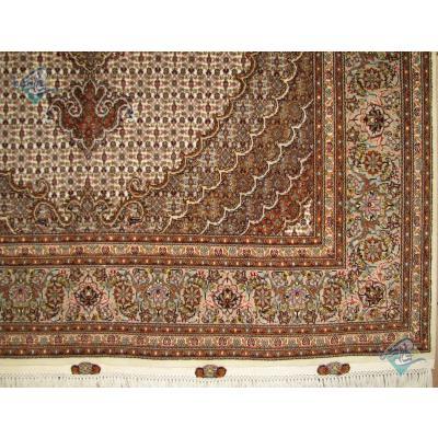 قالیچه دستباف نقشه جدید ماهی یازده متن پنجاه رج گل ابریشم