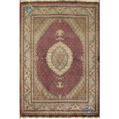 قالیچه دستباف طرح جدید ماهی هفت متن پنجاه رج گل ابریشم
