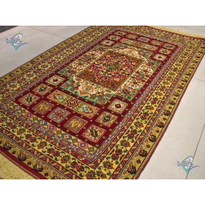 Rug Khorasan Carpet Handmade Brick Design