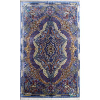Zar-o-Nim Qom Carpet Handmade Raymon Design