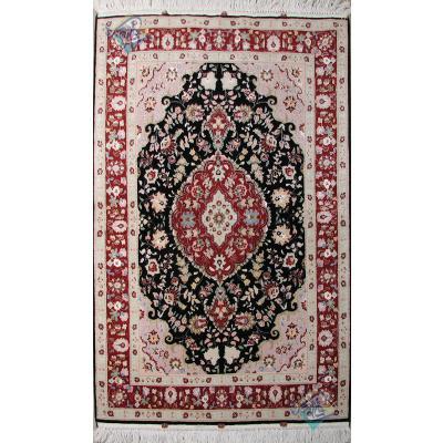Zar-o-Nim Tabriz Carpet Handmade Behbood Design