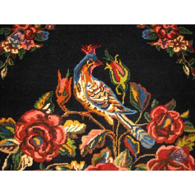 Rug bakhtiary Handwoven Nightingale and Flowers Design